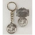 St. Michael Key Ring & Visor Clip Set