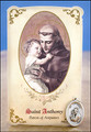 St Anthony (Amputees) Healing Holy Card with Medal