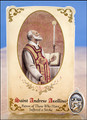 St Andrew Avellino (Stroke) Healing Holy Card with Medal