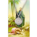 St. Francis Xavier Pewter Medal and Holy Card