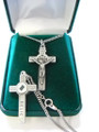 Pewter Crucifix with Relic