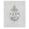 "Sterling Silver Miraculous Medal with 13"" Chain & Box"