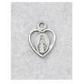 "Sterling Silver Miraculous Medal with 13"" Chain & Box lmhbt"