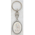 Sterling Silver St. Anthony Key Ring