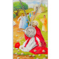 St. Timothy Pewter Medal and Holy Card