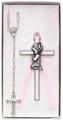 Girl's Cross & Rosary Set