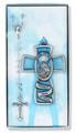 Blue Guardian Angel Rosary Set