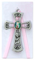3-3/4 G.A. Girl Pink Cross/Card