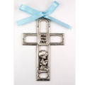 Pewter Boy Crib Cross/Carded
