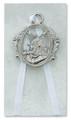 Guardian Angel Crib Medal White