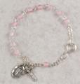 """5-1/2"""" Pink Glass Baby Bracelet"""