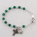"5-1/2"" Celtic Emerald Baby Bracelet"