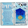Blue Baptism Water Bottle W/Cross