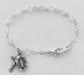 "5-1/2"" Crystal Sterling Silver Baby Bracelet"
