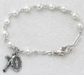 "5-1/2"" Pearl Sterling Silver Baby Bracelet"