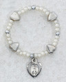 Baby Heart Silver Ox Stretch Bracelet