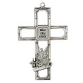 "6"" Pewter Guardian Angel Cross"