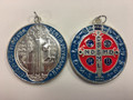 St. Benedict Pendant Blue and Red