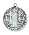 St. Benedict Sterling Silver Medal and Chain