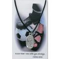 "Boys Soccer Medal on 24"" Black Leather Cord"