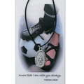 "Girls Soccer Medal on 18"" Black Leather Cord"