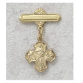 Gold over Sterling Silver 4-way Baby Pin