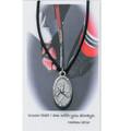 "Boys Hockey Medal on 24"" Black Leather Cord"