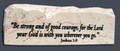 Jerusalem Stone Scripture Stone Joshua 1:9