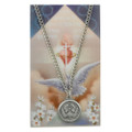 Holy Spirit Pewter Medal and Holy Card