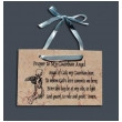 Jerusalem Stone Guardian Angel Prayer Plaque
