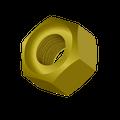 "1-1/2""-6 Grade-8 Hex Nut Zinc Yellow"