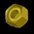 "1-3/4""-5 Grade-8 Hex Nut Zinc Yellow"