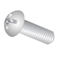 "#8-32 x 1/2"" (Ft) Machine Screw Round Head Phillips/Slotted Combo Zinc"