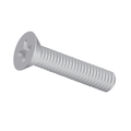 "#6-32 x 1/4"" (Ft) Machine Screw Flat Head Phillips Zinc"