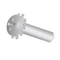 "#8-32 x 1/2"" Machine Screw Pan Head Phillips W/ External Tooth Lockwasher"