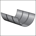 SHORT PIPE COVERING PROTECTION SHIELD SIZE #3