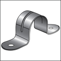 """1/4"""" TWO HOLE PIPE STRAPS HEAVY STAINLESS STEEL OD"""
