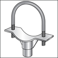 """14"""" PIPE SADDLE SUPPORT WITH U-BOLT"""