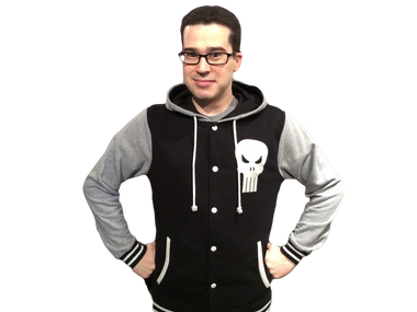 The Punisher Letterman Hoodie