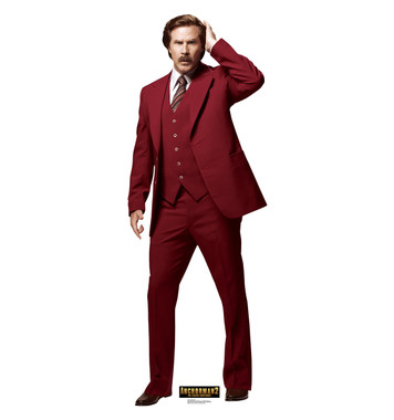 Anchorman 2 Ron Burgundy Life Size Stand Up