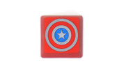 Three Beeline Captain America Hand-Crafted Backlit Keycap - Red