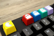 Three Beeline Pacman Hand-Crafted Backlit Keycap