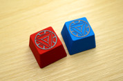 Three Beeline Iron Man Arc Reactor Hand-Crafted Backlit Keycap