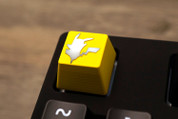 Three Beeline Pikachu Hand-Crafted Backlit Keycap