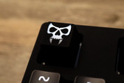 Three Beeline Skull Hand-Crafted Backlit Keycap - Black