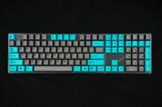 GeekKeys Cyan/Grey Dyesub Thick PBT Full Keyset