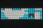 GeekKeys Cyan/White Blank Thick PBT Full Keyset