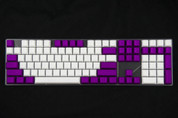 GeekKeys Purple/White Blank Thick PBT Full Keyset