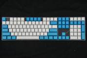 GeekKeys Blue/White Blank Thick PBT Full Keyset