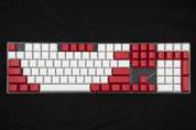 GeekKeys Red/White Blank Thick PBT Full Keyset